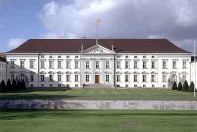 Het Duitse Presidentschap. Slot Bellevue in Berlijn