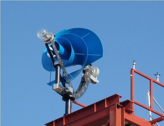 Archimedes windmolen. Nederlandse vinding, goedkoop, hoog rendement en weinig geluid.